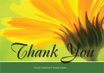 Golden Bloom Thank You Cards